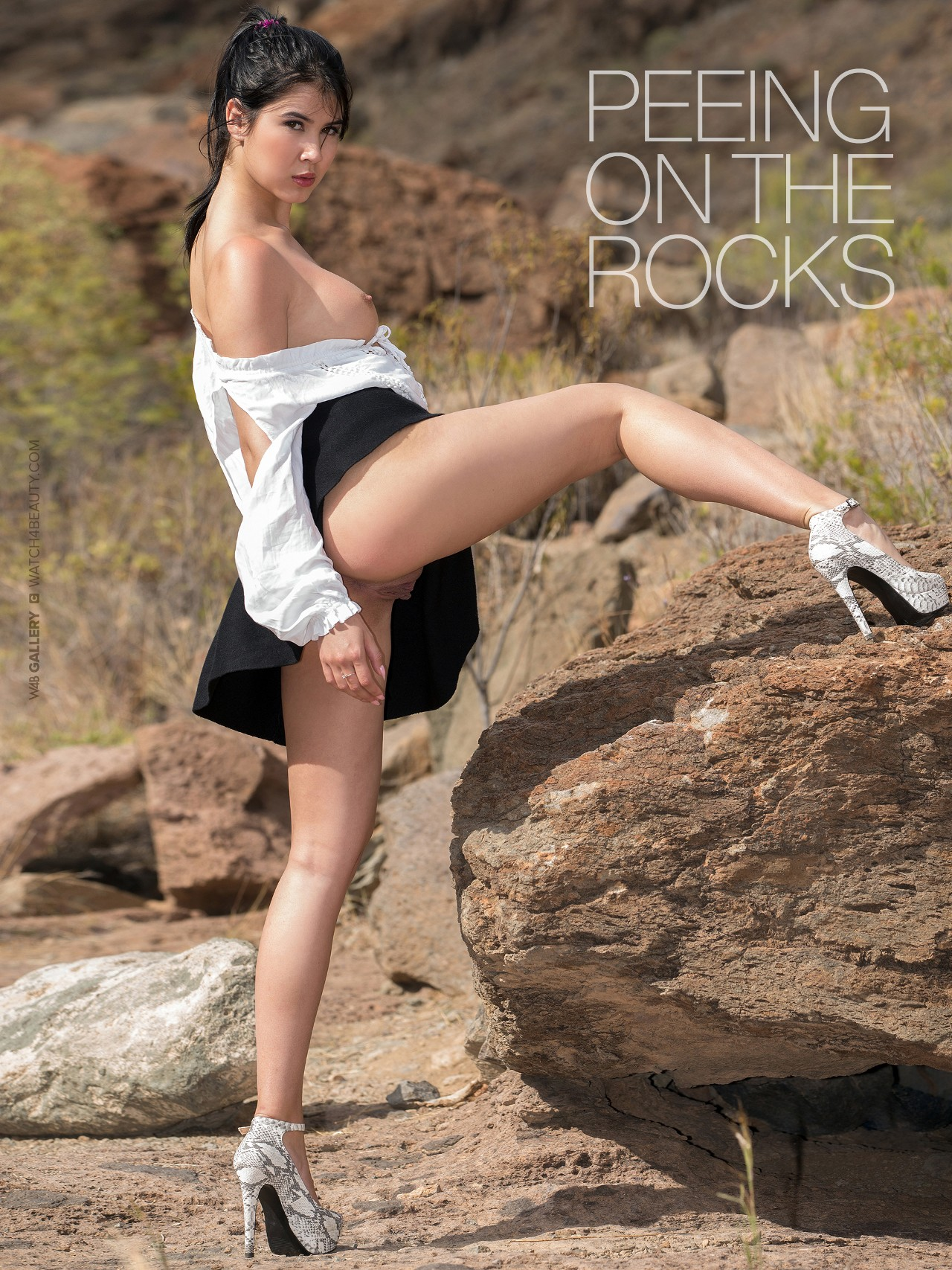 Lady Dee: Peeing On The Rocks